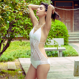 Retro Handmade Crochet Backless Swim Suit (5 Colours)
