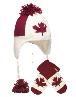 Canada Flag Pilot Hat and/or Mittens