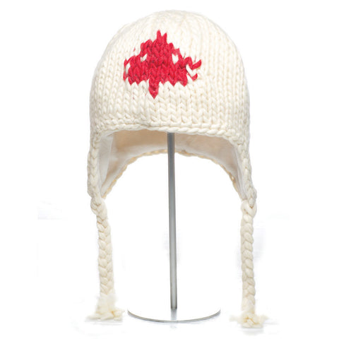 Chunky Knit Canada Pilot Hat