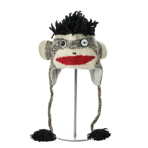 Punk Rock Sock Monkey Animal Hat