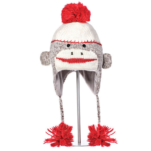 Cute Sock Monkey Animal Hat.   Knitwits, Knit Wits, Animal Hats
