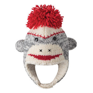 Cute Sock Monkey Hat - Infant