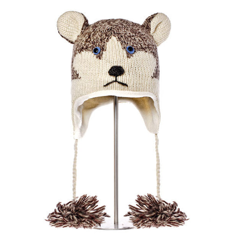 Happy the Husky Animal Hat.  Knitwits, Knit Wits, Animal Hats