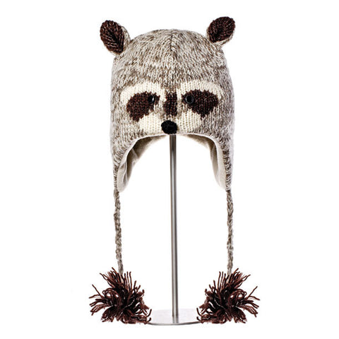 Robbie the Raccoon Animal Hat.   Knitwits, Knit Wits, Animal Hats