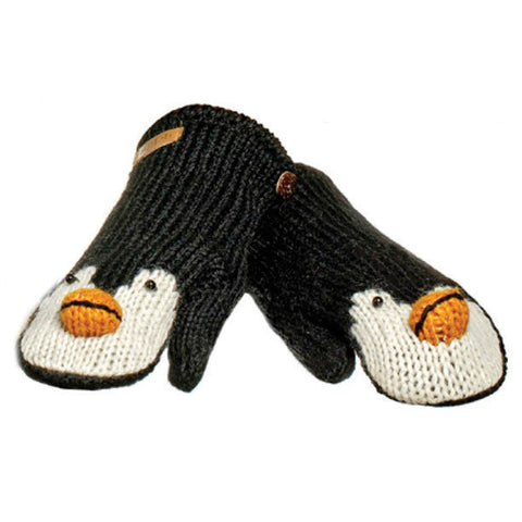 Peppy the Penguin Mittens.   Knitwits, Knit Wits, Animal Hats