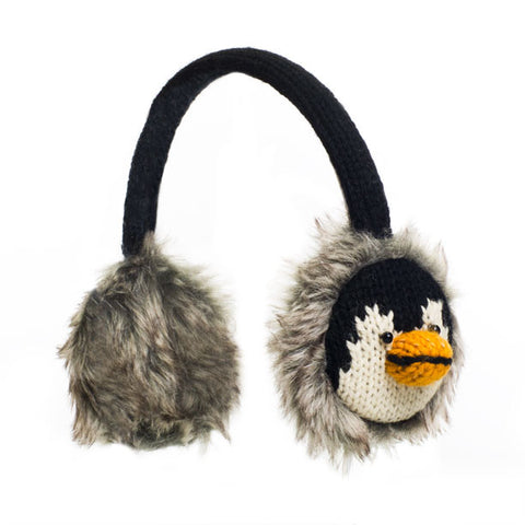 Peppy the Penguin earmuffs.   Knitwits, Knit Wits, Animal Hats