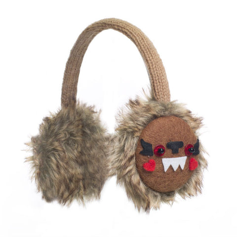 Bobby the Bigfoot Earmuffs.   Knitwits, Knit Wits, Animal Hats