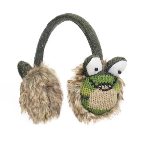 Fernie the Frog Earmuffs.   Knitwits, Knit Wits, Animal Hats