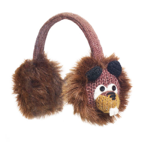 Barkley the Beaver earmuffs.   Knitwits, Knit Wits, Animal Hats