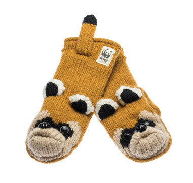 WWF Black Footed Ferret Mittens