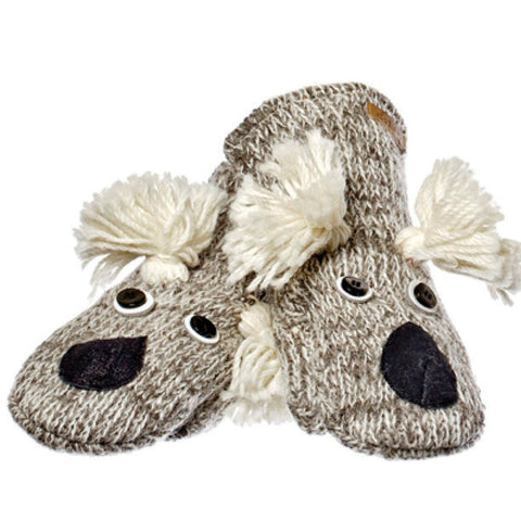 Kirby the Koala Mittens.   Knitwits, Knit Wits, Animal Hats