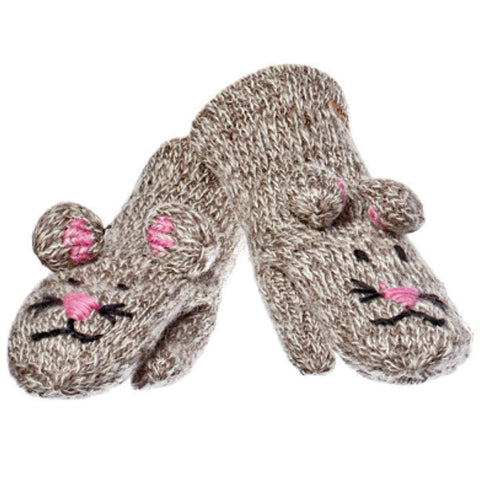 Mimi the Mouse Mittens.   Knitwits, Knit Wits, Animal Hats