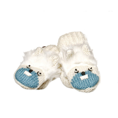 Yuki the Yeti Mittens.   Knitwits, Knit Wits, Animal Hats