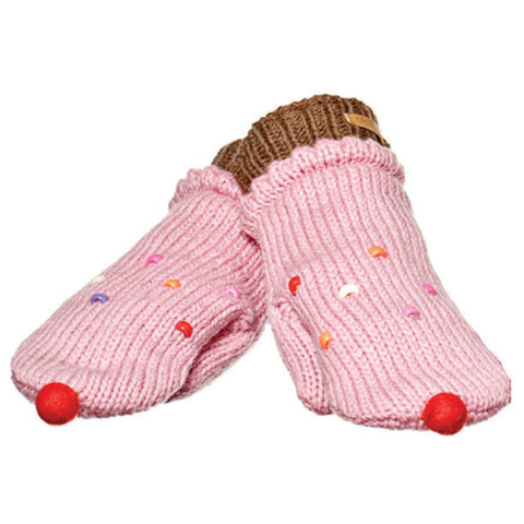 Strawberry Cupcake Mittens.   Knitwits, Knit Wits, Animal Hats