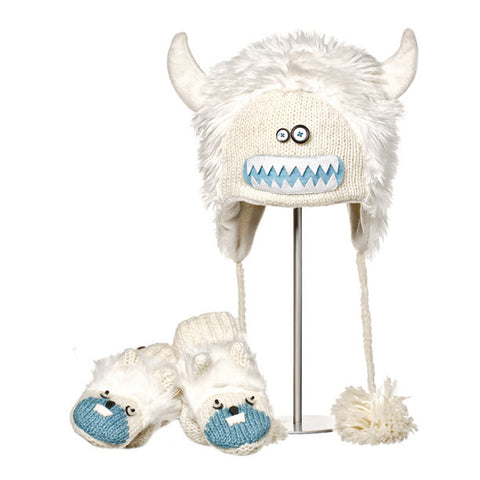 Yuki the Yeti Animal Hat & Mittens Set.   Knitwits, Knit Wits, Animal Hats