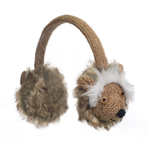 Herman the Hedgehog Earmuffs.   Knitwits, Knit Wits, Animal Hats
