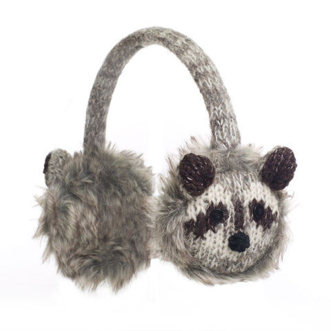Robbie the Raccoon Earmuffs.   Knitwits, Knit Wits, Animal Hats