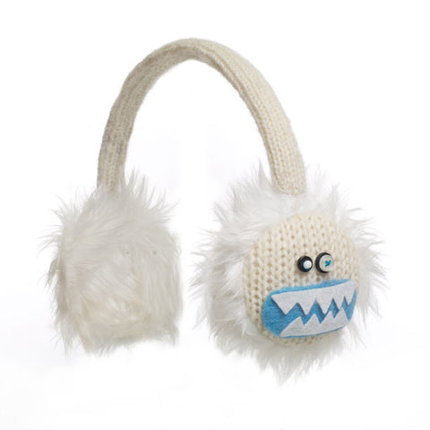 Yuki the Yeti earmuffs.   Knitwits, Knit Wits, Animal Hats