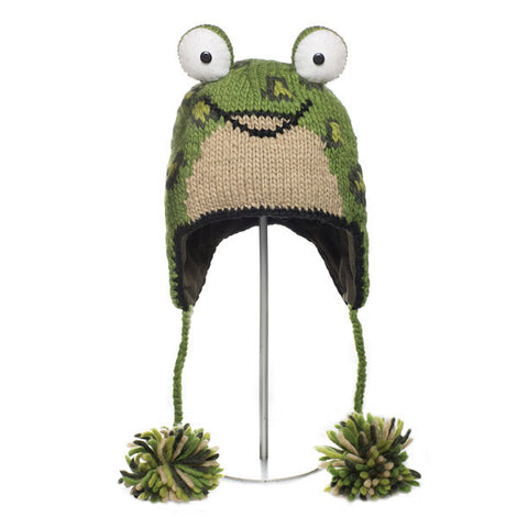 Leopard Frog Animal Hat.   WWF, Knitwits, Knit Wits, Animal Hats