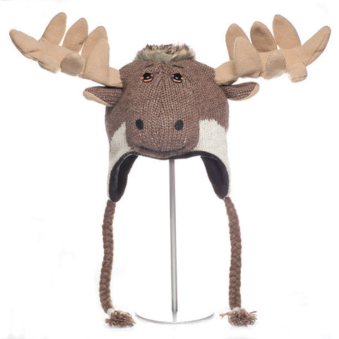 Caribou Animal Hat.   WWF, Knitwits, Knit Wits, Animal Hats