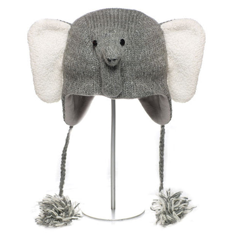 Asian Elephant Animal Hat.   WWF, Knitwits, Knit Wits, Animal Hats