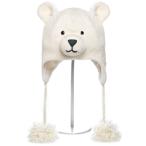Polar Bear Animal Hat.   WWF, Knitwits, Knit Wits, Animal Hats