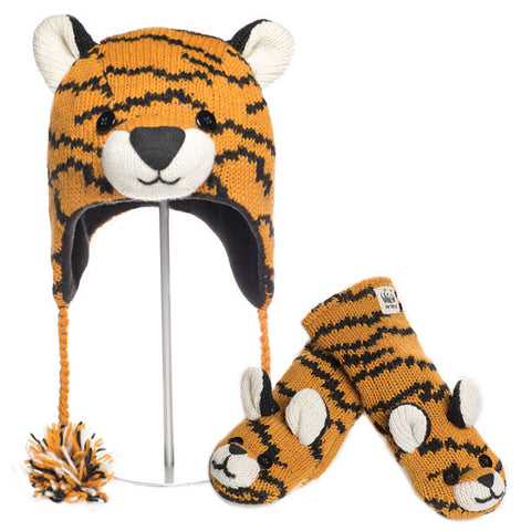 Tiger Animal Hat & Mittens Set  WWF, Knitwits, Knit Wits, Animal Hats