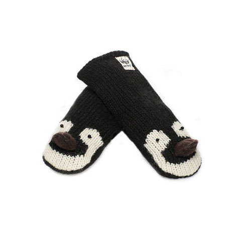 Emperor Penguin mittens.   WWF, Knitwits, Knit Wits, Animal Hats