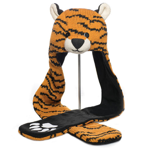 Tiger Scarf Hat  WWF, Knitwits, Knit Wits, Animal Hats