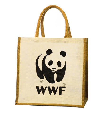 WWF Jute Bag  WWF, Knitwits, Knit Wits, Animal Hat, Animal Hats