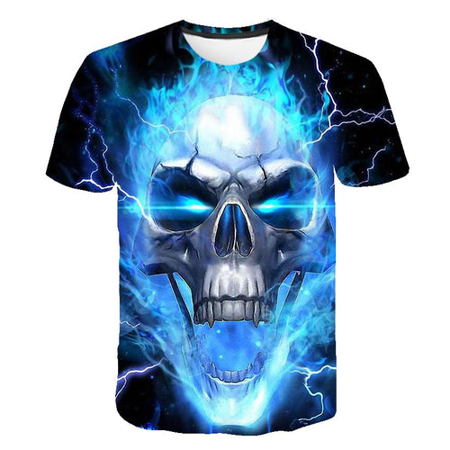 Blue Burning Skull II.