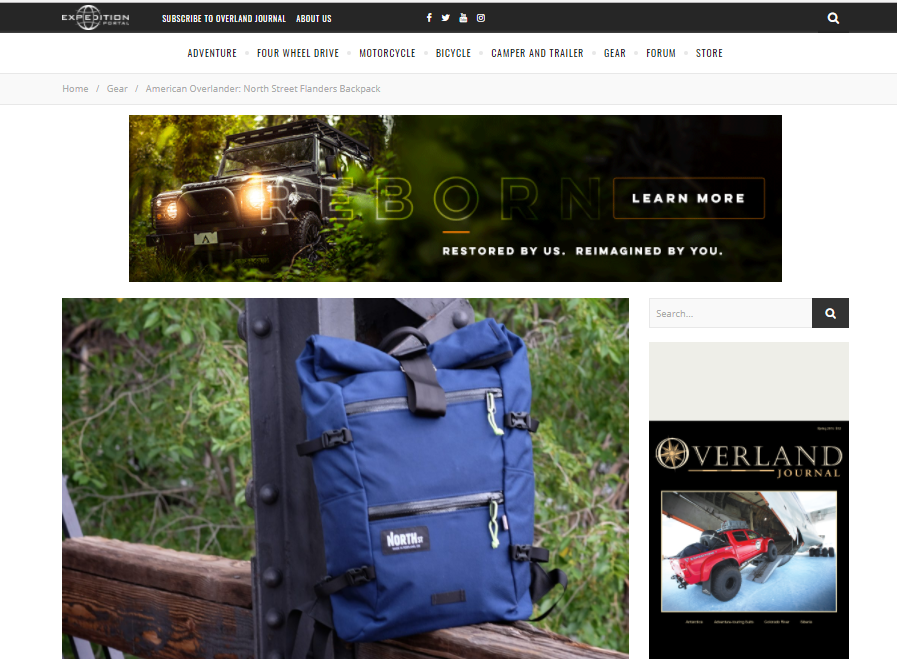 Expedition Portal Reviews the Flanders Backpack