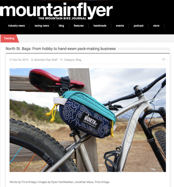 Mountain Flyer  North St. Bags: From Hobby to Hand-sewn Pack-making Business