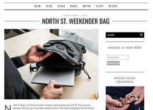Weekender Meeting Bag Featured in The Upscout