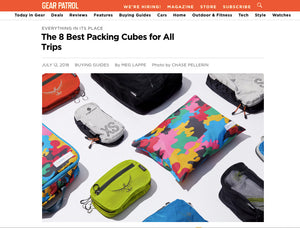 Weekender Packing Cubes featured in Gear Patrol's