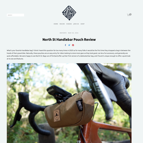 Dave Malwitz reviews the North St. Handlebar Pouch