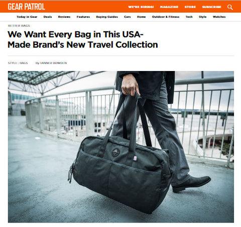 Gear Patrol for North St. Bags Weekender Travel Series