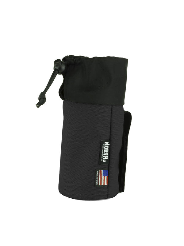 Pioneer Bottle Sleeve - Black Cordura - North St. Bags