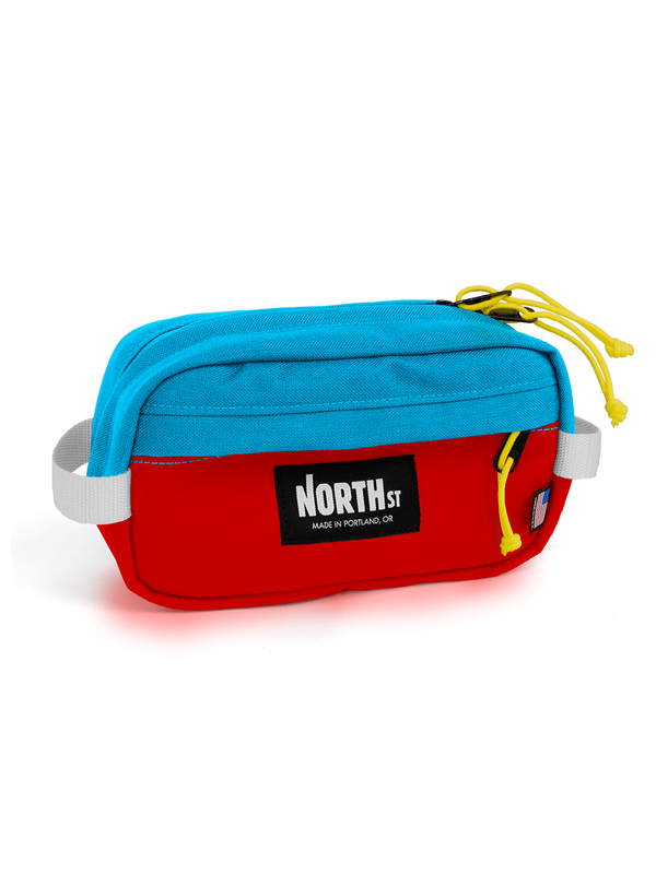 Pioneer 9 Hip Pack with Belt - Red & Teal - North St. Bags
