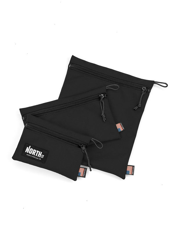Pittock Travel Pouches - Black