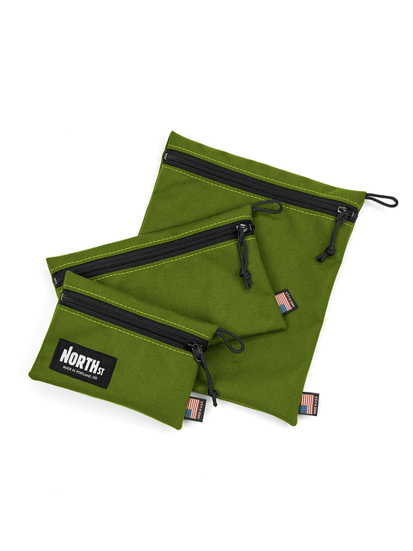 Pittock Travel Pouches - Olive Green - North St. Bags
