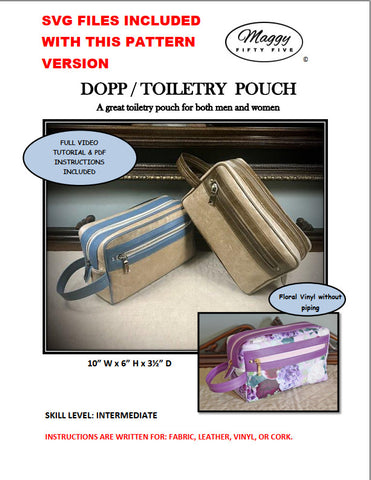 DOPP/TOILETRY POUCH - PDF SEWING PATTERN WITH SVG FILES