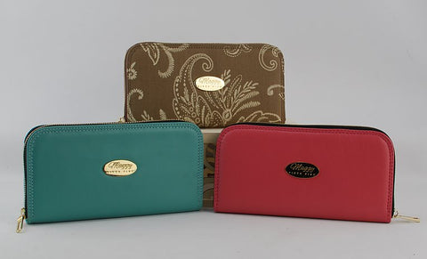 BUNDLE PACKAGE -Classic Zip Around Wallet/Mini wallet/accordion zipper pocket/cell phone pouch