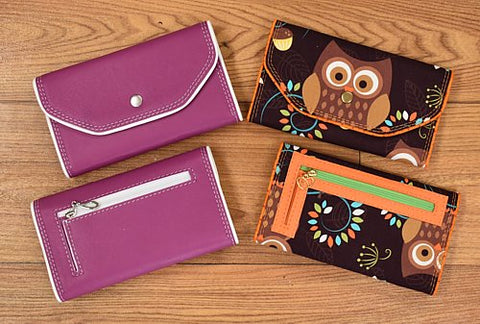 BUNDLE PACKAGE - Slim tri-fold wallet vinyl/leather and fabric versions