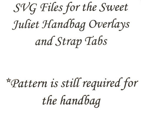 SVG FILES for Sweet Juliet Handbag Overlays and Strap Tabs