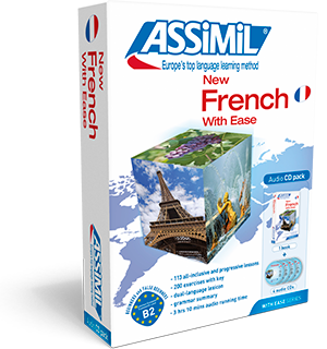 French With Ease Book and 4 CD's