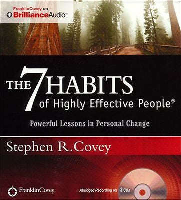 7 Habits of Highly Effective People, Powerful Lessons in Personal Change AudioBook CD