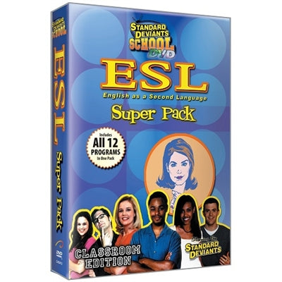 Standard Deviants School ESL 12 Pack DVD