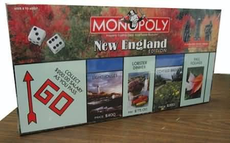 Monopoly New England Edition Board Game