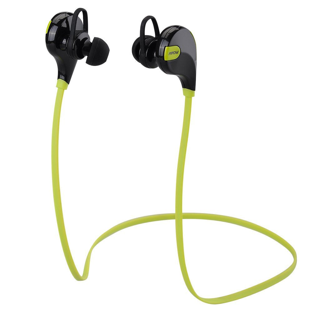 Mpow Swift Bluetooth 4.0 Wireless Stereo Sweatproof Jogger, Running, Sport Headphones Earbuds Earphone with AptX,Mic